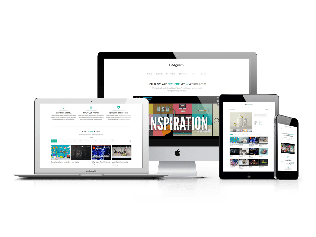 BeTheme BeAgency Theme: One Page WordPress Portfolio Theme